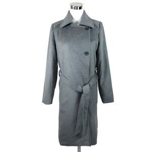 Everlane XS The Wool Trench Coat Gray Belted NWOT